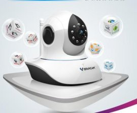WiFi 百万高清720P(插卡)红外网络摄像机