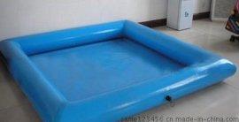 儿童玩沙子充气池子多少钱一套 蓝色充气沙池厂家支持订做