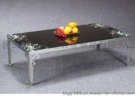 激光镂空简单不锈钢茶几桌子,中式不锈钢拆机桌子