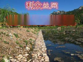 宁夏清水河河道坡脚防护铅丝石笼 河床淤积处理铅丝笼 锌铝合金堤岸防护铅丝石笼护垫
