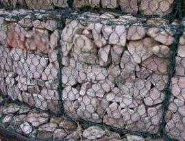 堤岸护坡石笼网,河道防护石笼网箱,镀锌涂塑石笼网