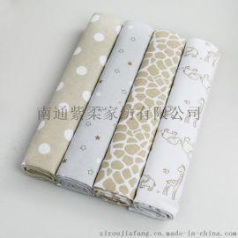 紫柔外贸原单婴儿床单 新生儿法兰绒幼儿园床单 儿童床单 纯棉床单4件装