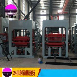 供应QT8-15透水砖机 高产量免烧砖机海绵砖机 水泥路面砖机彩砖机