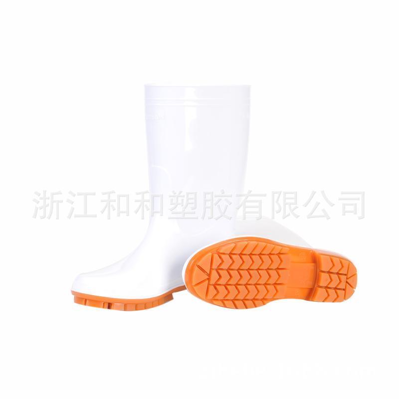 厂家定制706PVC防滑卫生靴厨房工作靴防滑耐油耐酸碱耐磨高帮雨鞋