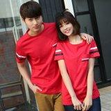 圓領T恤大碼寬鬆情侶裝夏季短袖男女韓版學生團隊服班服工衣定製