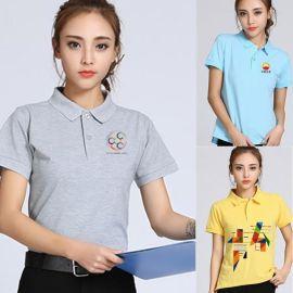 夏季工作服t恤定制印字服务员餐饮维修外卖配送工衣纯棉短袖定做