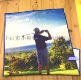廠家定製鳳梨格高爾夫巾、數碼熱昇華超細纖維掛巾