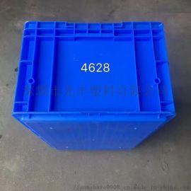 连盖储物箱 物流周转箱带盖一体周转箱斜插式塑料箱