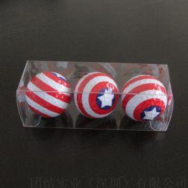 深圳龙华现货高尔夫球PVC透明包装盒