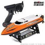 优迪UDI001 2.4G遥控船 动力威龙仿真快艇玩具模型 高速船代发