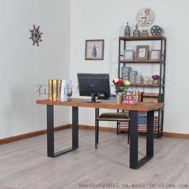 定做实木餐桌 铁艺实木餐桌 多功能餐桌椅长方形餐桌复古美式餐桌