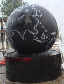 黑色大理石风水球, 酒店大厅风水球喷泉