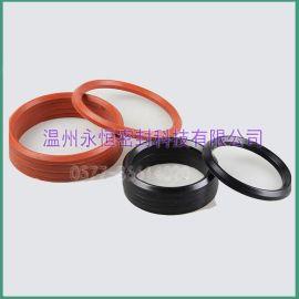 优质V型橡胶夹布组合活塞密封圈 胶夹布 PTFE聚四 乙烯V型圈 聚氨酯Pu组合V型圈