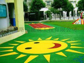 邢台幼儿园彩色跑道厂家,EPDM彩色地面,绿动体育