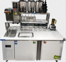 郑州供应奶茶操作台冰淇淋机果汁机等设备
