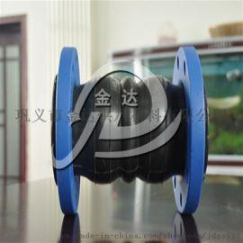 304不锈钢橡胶软连接 可曲挠橡胶接头 橡胶膨胀节