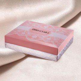 工厂专业定做印刷化妆品包装盒 击凸逆向UV烫银银卡纸天地盖套盒