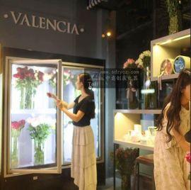 中意创展保鲜柜定做风冷鲜花展示柜单门双门三门立式商用鲜花店冷藏柜