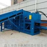 偃師大型200噸廢紙箱壓扁臥式液壓打包機參數
