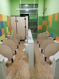 幼儿园卫生间隔板 抗倍特厕所门