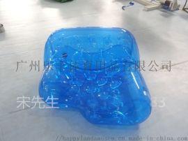 透明充氣沙發可定制化 輕盈便攜