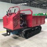 1.2吨山地沼泽林地湿地运输车视频 履带手扶小推车
