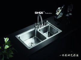 SINOS/赛诺思 C827 7843 水槽双槽 SUS304 洗菜盆 钢盆 手工槽 手工水槽