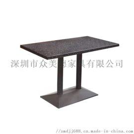 餐厅大理石餐桌人造石餐台订制工厂客家饭店餐桌椅