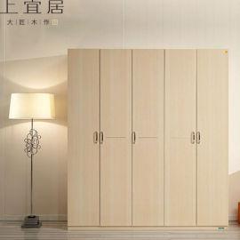 實木移門衣櫃臥室整體衣櫃現代簡約衣櫃定制廠家直銷