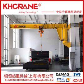 上海立柱旋臂吊厂家上海1吨悬臂吊上海2t定柱式BZD悬臂吊