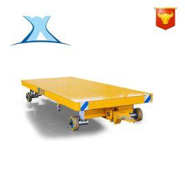 工厂智能转运叉车牵引拖车 转运人工手推平板拖车 物料转运大件车