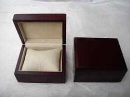 长方形木质圆角表盒   手表盒 首饰盒 绒布礼品收纳盒