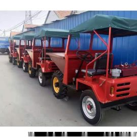 工地用自卸式一吨翻/多种动力可选前卸式翻斗车