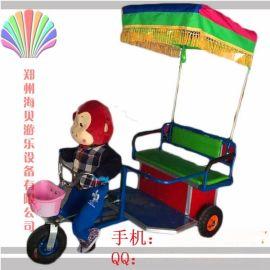 首推小猴子拉车机器人蹬车小洋人蹬车海贝