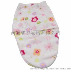 紫柔  婴儿包巾 新生儿抱毯包被 宝宝裹巾 婴儿睡袋 法莱绒单
