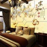 卧室软包3d壁画 酒店背景皮革硬包 床头软包背景墙定制