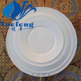 【厂家直销】平盘P-70/80/90/100 乳白耐热钢化玻璃 白玉碗
