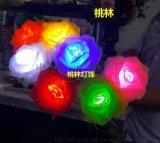 桃林玫瑰花海地插灯彩灯装饰景观灯物发光玫瑰灯