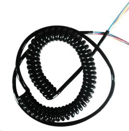 螺旋氙气灯_螺旋氙气灯价格弹簧电线 螺旋电缆伸缩电源线【疝气灯伸缩线】2芯1平方