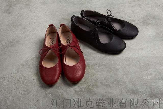 2016春夏新款绑带圆头平底单鞋 真皮鞋韩版包头女鞋