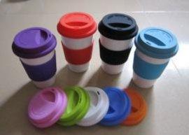 陶瓷杯硅胶盖