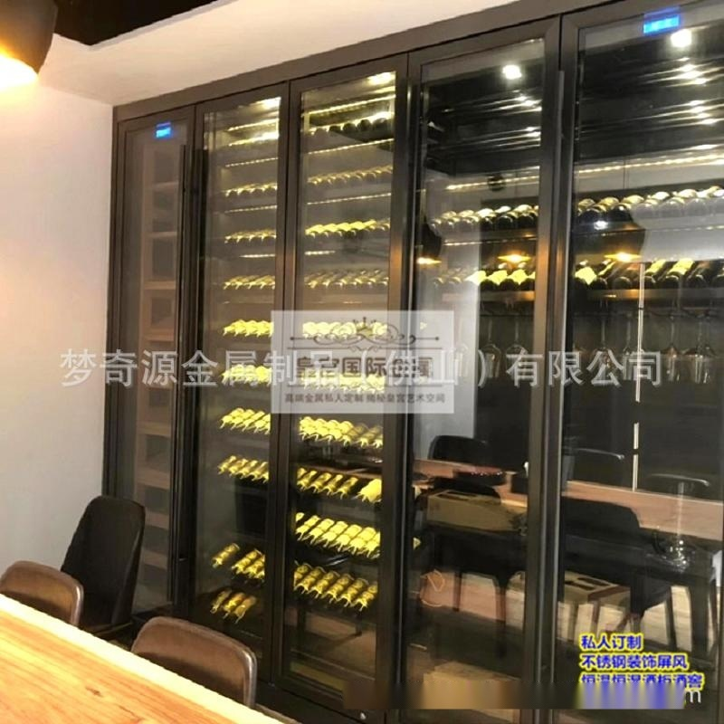 高端定製不鏽鋼恆溫酒櫃 黃金櫃 紅酒櫃 不鏽鋼酒架 恆溫恆溼酒窖