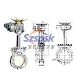 PZ973H電動對夾式不鏽鋼304/316刀閘閥 DN50 dn/80 dn100 dn125
