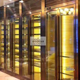 直銷不鏽鋼酒櫃架 酒店玻璃酒櫃 客廳紅酒恆溫酒櫃