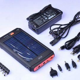 太阳能单晶硅笔记本移动电源 12000毫安 超大容量聚合物电芯