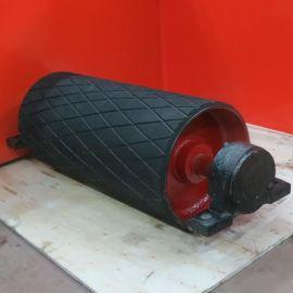 德州亿轮生产各种包胶滚筒,内置电动滚筒,外装电动包胶滚筒