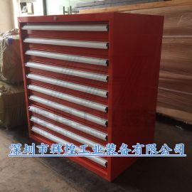 重型10抽零件柜 车间螺丝铁皮柜