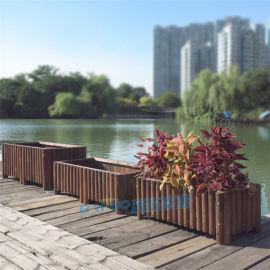 防腐木花箱室外庭院木质实木花箱长方形特大加厚花槽