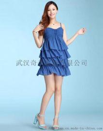 2019夏季欧美新款时尚高端女装吊带裹胸连衣裙