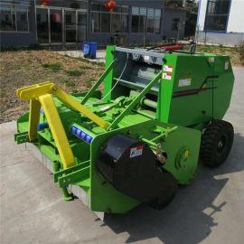 玉米秸秆粉碎打捆机,拖拉机牵引式秸秆粉碎打捆机
